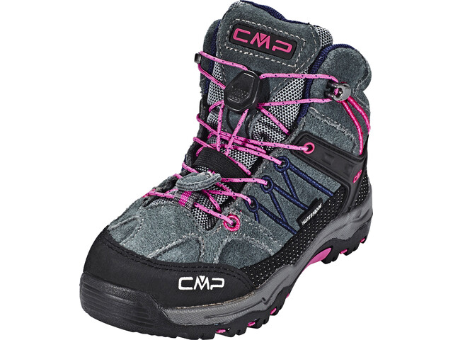 CMP Campagnolo Rigel Mid WP Trekking Shoes Kinder grey-hot pink